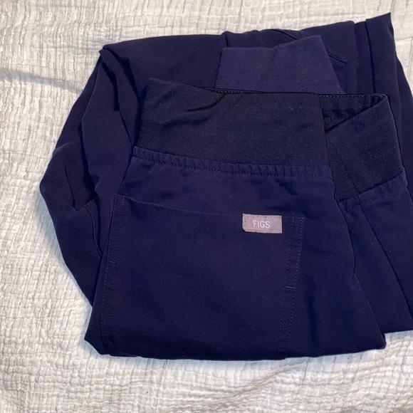 Figs Navy Blue XSmall Petite Zamora scrub pants